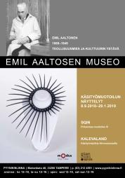Graafinen suunnittelu / Näyttelysuunnittelu: Sqin-juliste, Emil Altosen museo