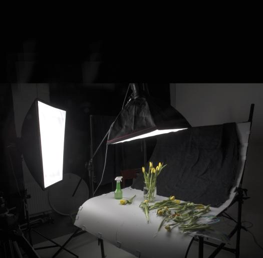 Kuvaustilanne studiossa