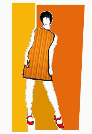 A-linjainen mekko Finlayson 200 nayttely