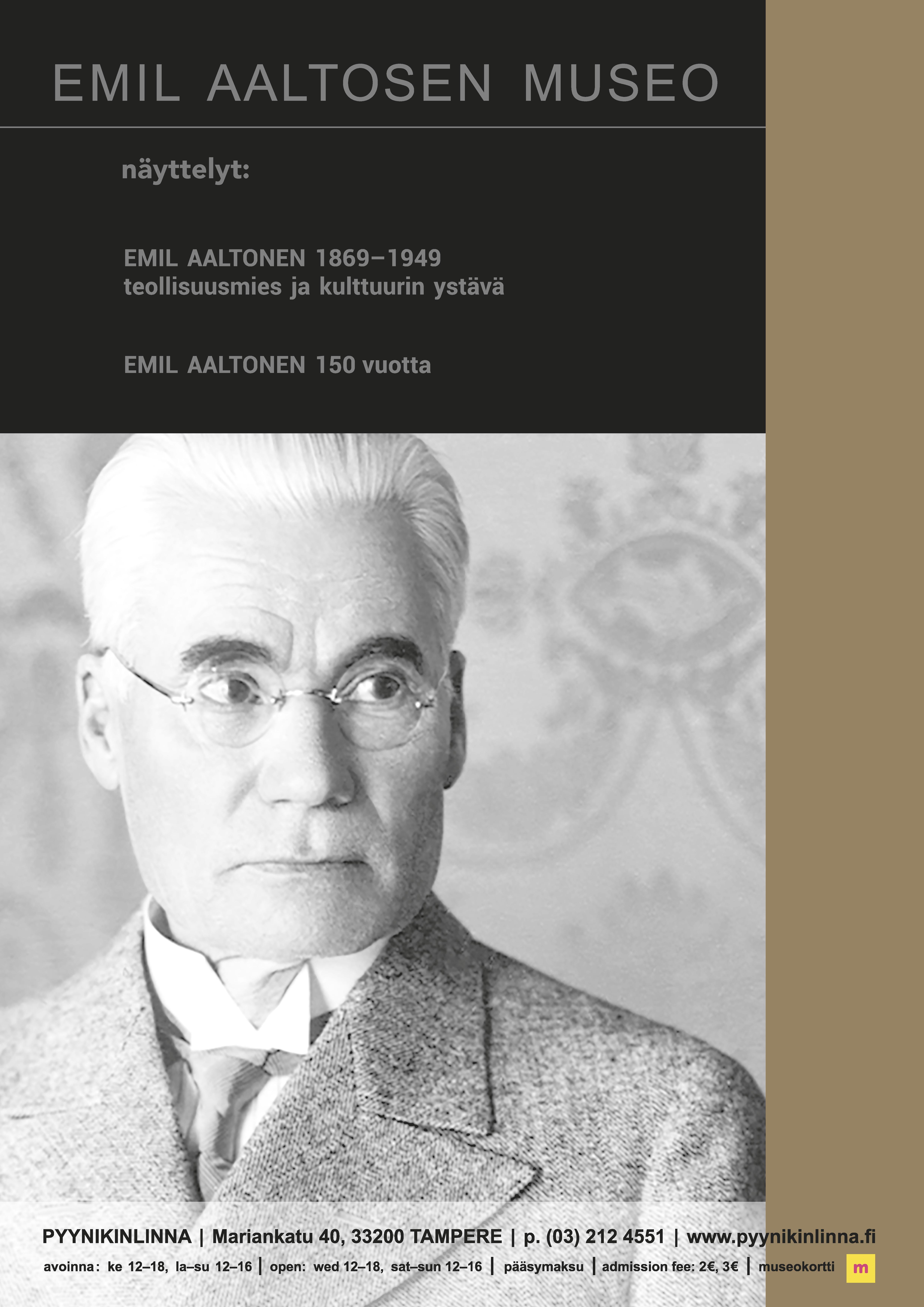 Emil Aaltonen 150 vuotta näyttelyjuliste